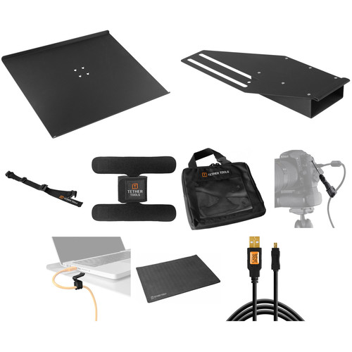 Tether Tools Tethering Platform with USB Mini-B Cable B&H Kit (Black)