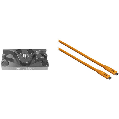 Tether Tools TetherPro USB Type-C Cable & TetherBLOCK MC Multi Cable Mounting Plate Kit