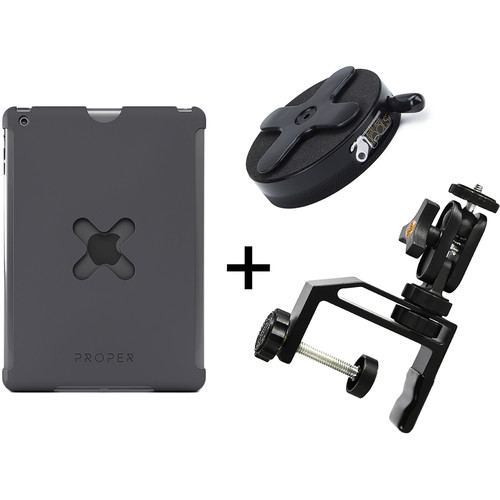 Tether Tools WU2BLK25 iPad Utility Mounting Kit for iPad 2 (Large, Black)
