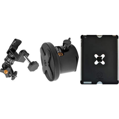 Tether Tools WU3BLK25 iPad Utility Mounting Kit for iPad 3 and 4 (Large, Black)