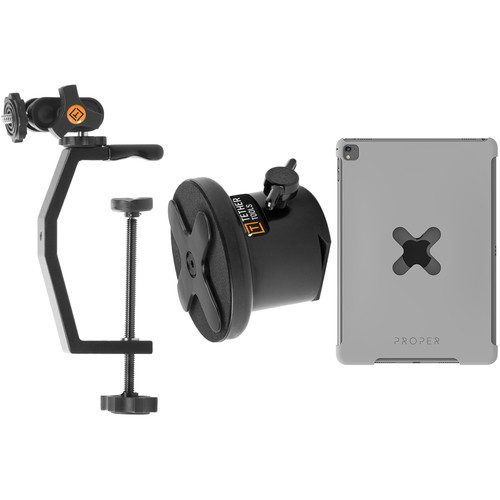 Tether Tools Utility Mounting Kit with EasyGrip XL & Wallee for iPad Air 2 (Gray)