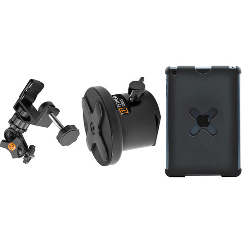 Tether Tools WUM1BLK25 iPad Utility Mounting Kit for iPad Mini (Large, Black)