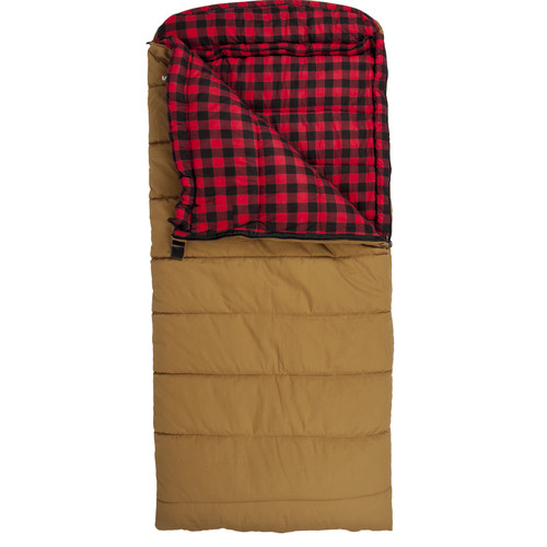 TETON Sports Deer Hunter Sleeping Bag (Brown, Right-Hand)
