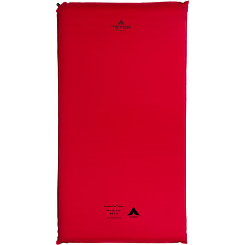 TETON Sports ComfortLite Junior-Sized Self-Inflating Camp Pad (Red)