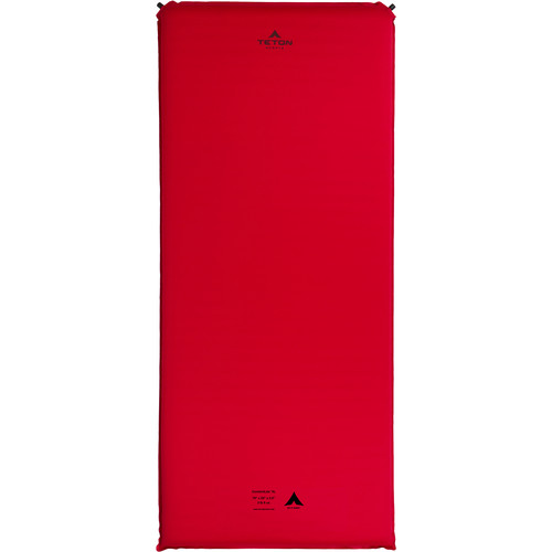 TETON Sports ComfortLite XL-Sized Self-Inflating Camp Pad (Red)