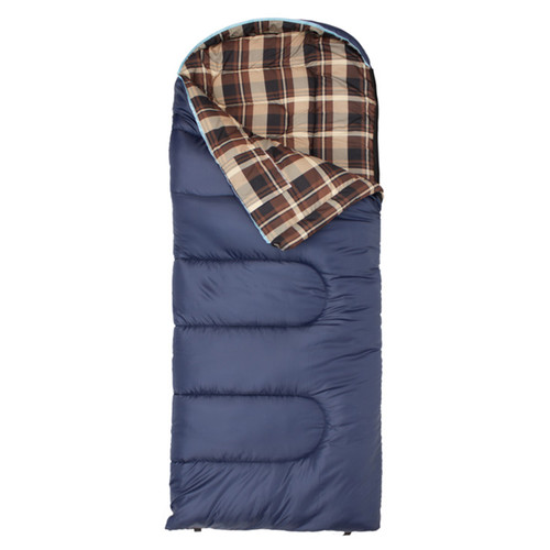 TETON Sports Celsius Junior -7°/20°F Sleeping Bag (Blue Plaid / Left Hand Opening)
