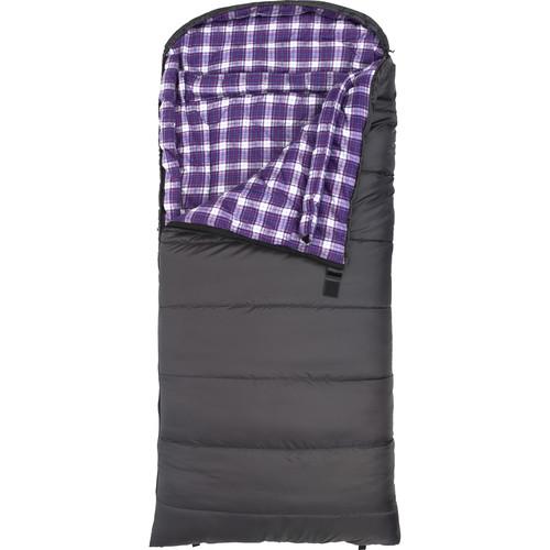 TETON Sports Fahrenheit 0° Sleeping Bag (Gray / Purple Plaid, Right-Hand, Women's)