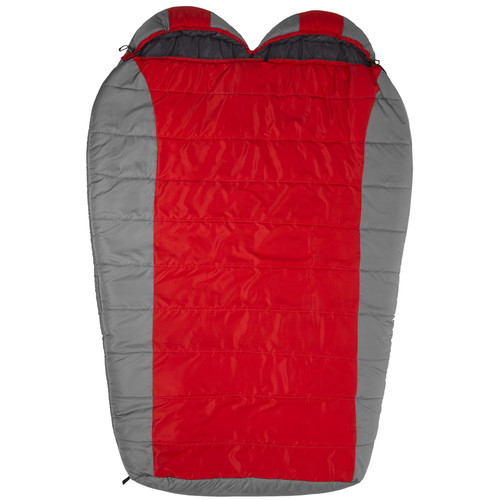 TETON Sports Tracker 2 Person Sleeping Bag (Red / Gray)