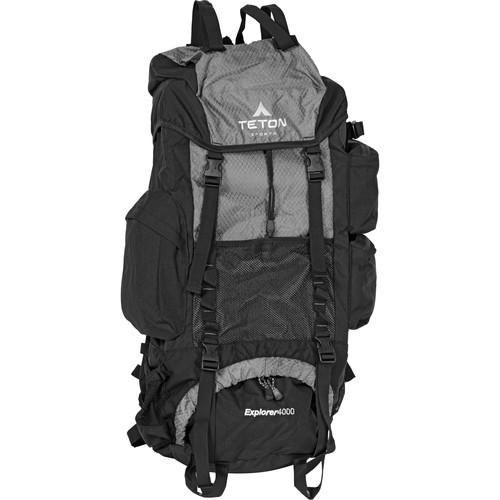 TETON Sports Explorer4000 Internal Frame Backpack (Metallic Silver)