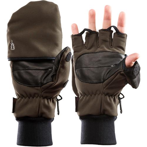 The Heat Company Heat 2 Softshell Mittens/Gloves (Size 7, Tarmac Green)