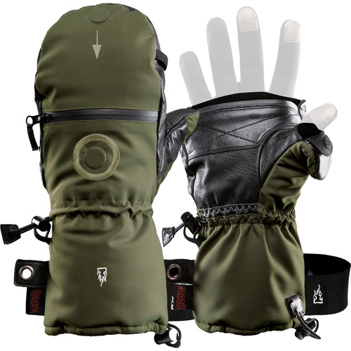 The Heat Company SHELL Mittens (Size 11, Dark Army Green)