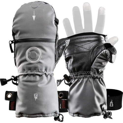 The Heat Company SHELL Mittens (Size 12, Gray)
