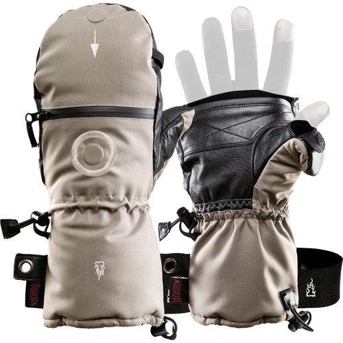 The Heat Company SHELL Mittens (Size 9, Beige)