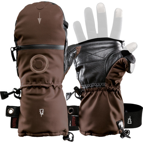 The Heat Company SHELL Mittens (Size 9, Brown)
