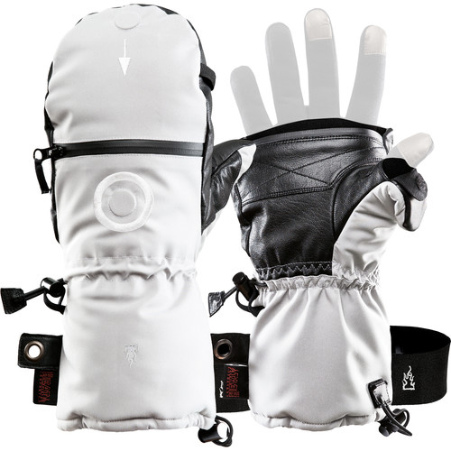 The Heat Company SHELL Mittens (Size 10, White)