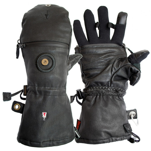 The Heat Company HEAT 3 Smart Full Leather Gloves (Men's Medium)