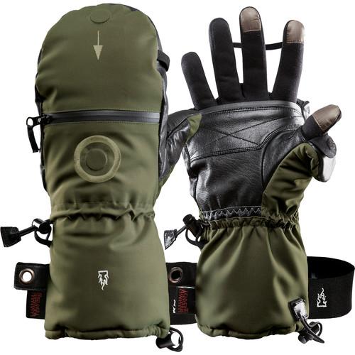 The Heat Company Heat 3 Smart Mittens/Gloves (Size 9, Tarmac Green)