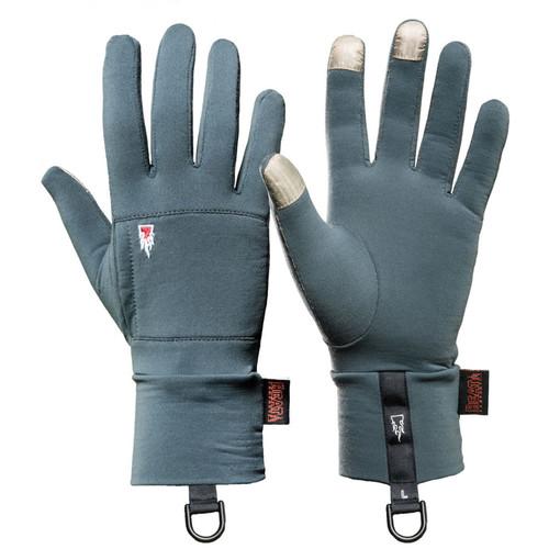 The Heat Company Merino Liner Gloves (Size 8-9, Glacier Gray)