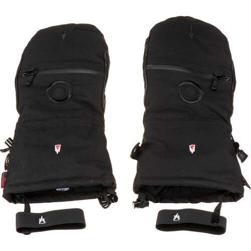The Heat Company SHELL Mittens (Size 8, Black)