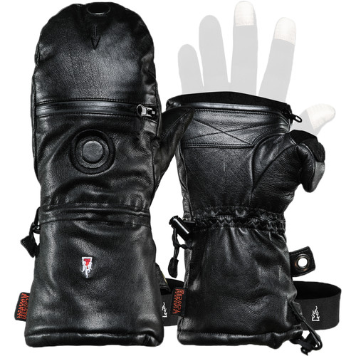 The Heat Company Shell Full-Leather Mitten (Size 8)