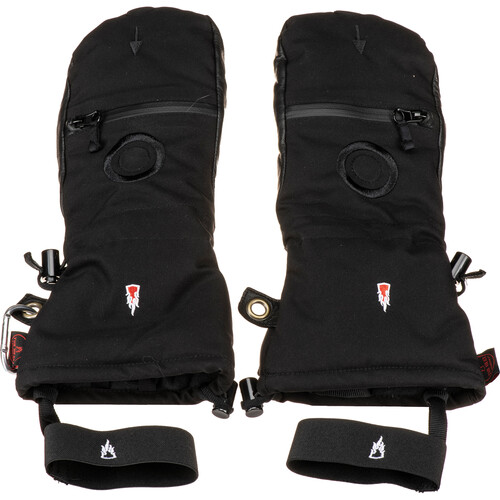 The Heat Company Heat 3 Smart Mittens/Gloves (Size 12, Black)