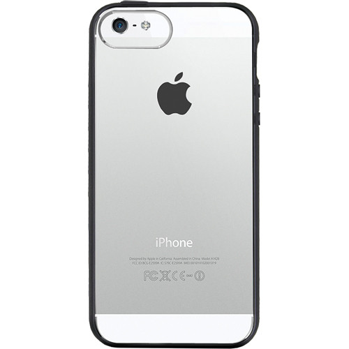 The Joy Factory Jamboree Soft Bumper with Clear Back Case for iPhone 5 (Black)