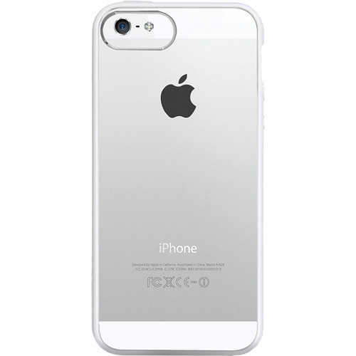 The Joy Factory Jamboree Soft Bumper with Clear Back Case for iPhone 5 (Gray)