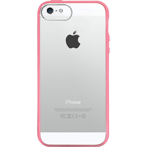 The Joy Factory Jamboree Soft Bumper with Clear Back Case for iPhone 5 (Pink)