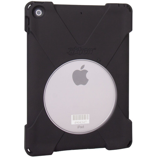 """The Joy Factory aXtion Bold E Ultra-Slim WR Rugged Case for iPad 9.7"""" 6th & 5th Gen with Asset Tag Window (Black)"""