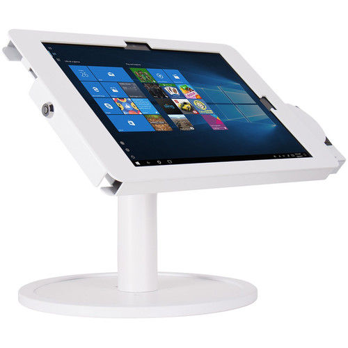 The Joy Factory Elevate II POS Countertop Kiosk with MagTek eDynamo Bracket for Surface Pro 6  5  4  3 (White)