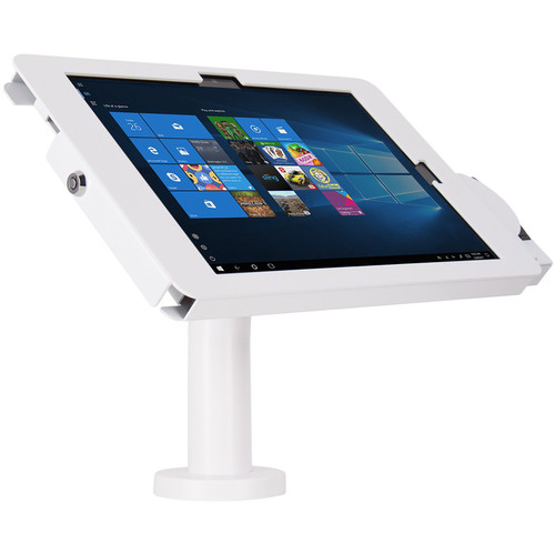 The Joy Factory Elevate II POS Wall Countertop Kiosk with MagTek eDynamo Bracket for Surface Pro 6543 (White)