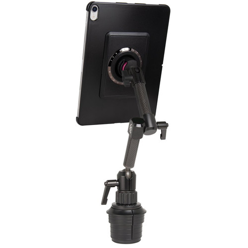 """The Joy Factory MagConnect Carbon Fiber Dual Arm Cup Holder Mount for iPad Pro 11"""""""