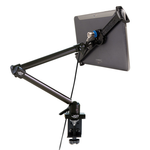 "The Joy Factory LockDown Universal Clamp Carbon Fiber Mount with Key Lock for 7-10.1"" Tablets"