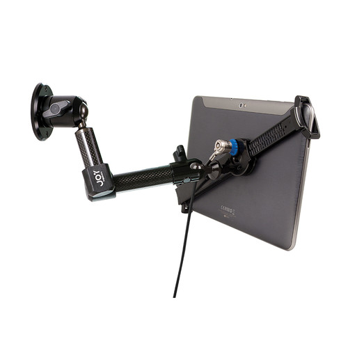 """The Joy Factory LockDown Universal Wall/Cabinet Carbon Fiber Mount with Key Lock for 7.0-10.1"""" Tablets"""