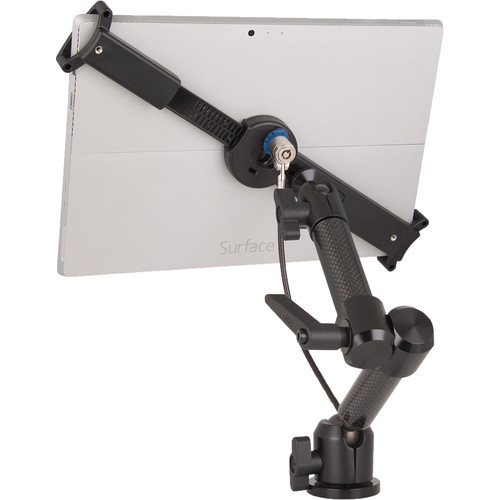 "The Joy Factory LockDown Universal Wall/Cabinet Carbon Fiber Mount with Key Lock for 10-13"" Tablets"