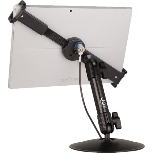 """The Joy Factory LockDown Universal Desk/Countertop Carbon Fiber Stand with Key Lock for 10-13"""" Tablets"""