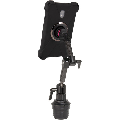The Joy Factory MagConnect Dual Carbon Fiber Arm Bold M Cup Holder Mount for Galaxy Tab A 8