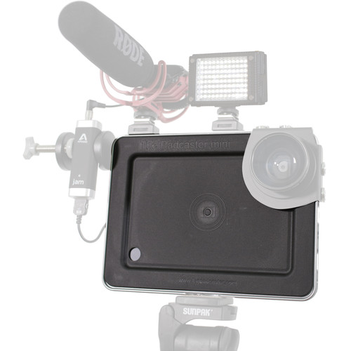 THE PADCASTER Padcaster Case for iPad mini 1/2/3 with VideoMic, Guitar Interface, and Mini Clamp