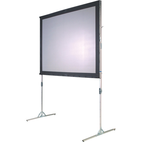 """The Screen Works EZF56932V 4' x 7'1"""" E-Z Fold Ratio Specific (RS) Single-Tube Portable Front or Rear Projection Screen - 2-VU"""