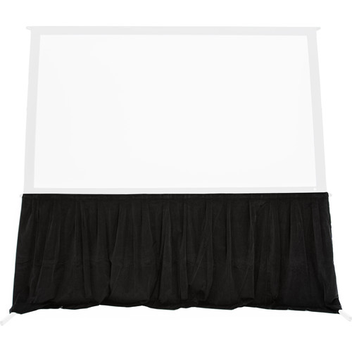 """The Screen Works 4' Velour Skirt for 56 x 93"""" EZ-Fold Frame (Black)"""