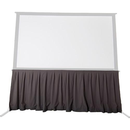 """The Screen Works 4' Velour Skirt for 56 x 93"""" EZ-Fold Frame (Gray)"""