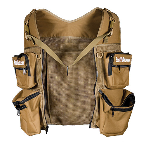THE VEST GUY Scott Bourne Mesh Photo Vest (Large, Coyote)