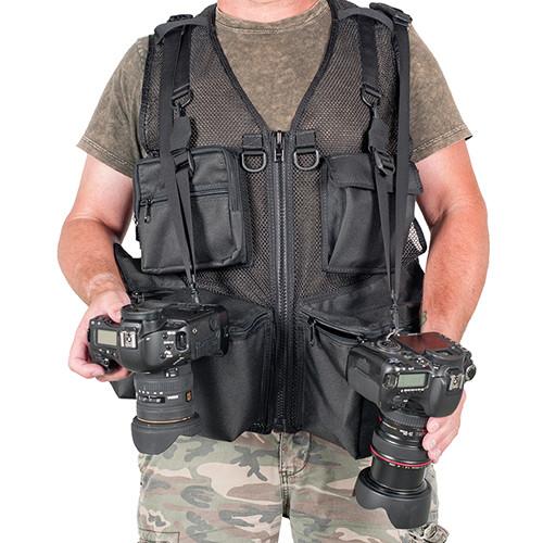 THE VEST GUY Urban 5 Mesh Photo Vest (Medium, Black)