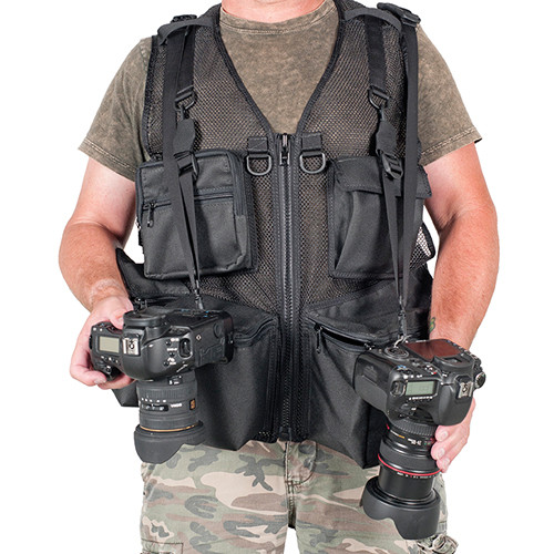 THE VEST GUY Urban 5 Mesh Photo Vest (X-Large, Black)