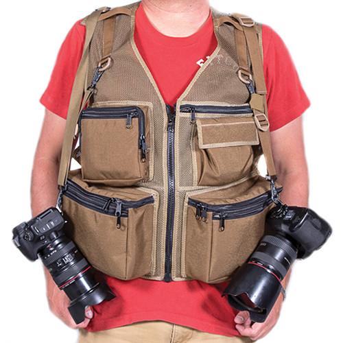 THE VEST GUY M&M Travel Photography XXX-Large Vest (Coyote-Mesh)