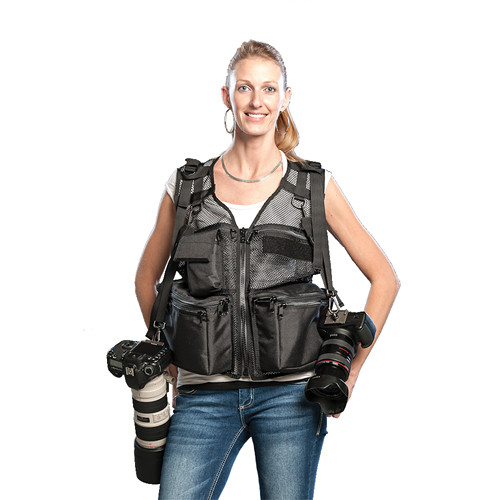 THE VEST GUY Wedding Photographer Mesh Photo Vest (Medium, Black)