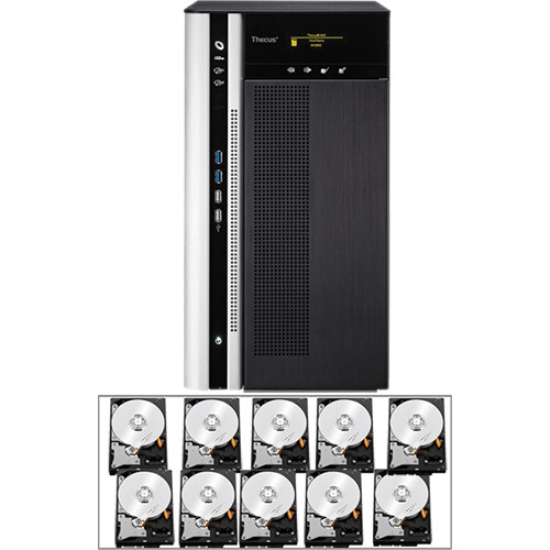 Thecus 40TB (10 x 4TB) Thecus TopTower N10850 10-Bay Enterprise NAS Server Kit with Drives