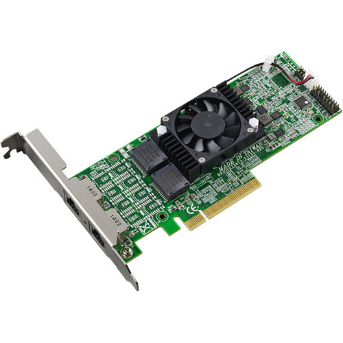 Thecus PCIe Network Interface Card with Dual-Port RJ45 10GBase-T Ethernet