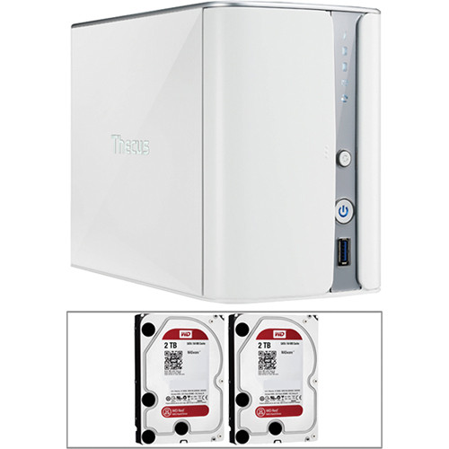 Thecus 4TB (2 x 2TB) N2520 2-Bay NAS Server Kit with Drives