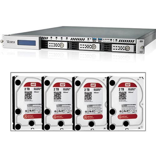 Thecus 8TB (4 x 2TB) N4510U 4-Bay Rack Mount NAS Server B&H Kit with Drives
